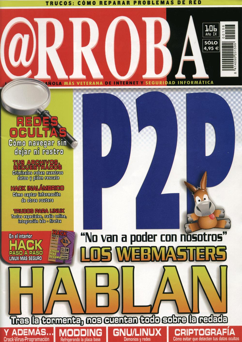 Portada de la revista @rroba de julio del 2006 (Pinche en la imagen ...